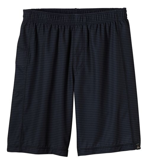 Mens prAna Flex Lined Shorts - Black/Black XL