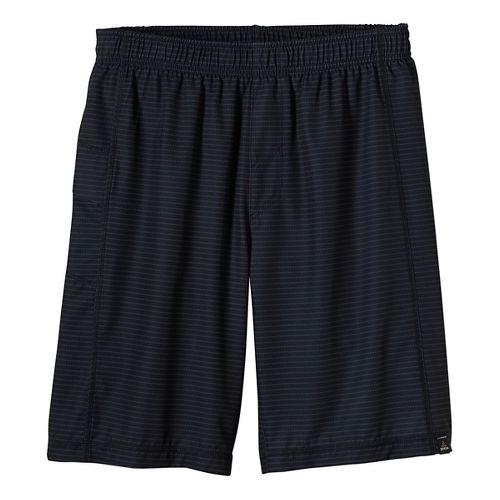 Mens prAna Flex Lined Shorts - Black/Black XL
