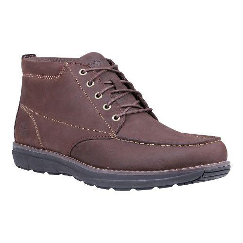 Mens Timberland Barrett Park Moc Toe Chukka Casual Shoe - Dark Brown 10.5