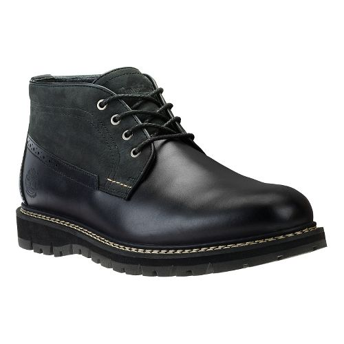 Mens Timberland Britton Hill Waterproof Clean Chukka Casual Shoe - Black/Nubuck 9