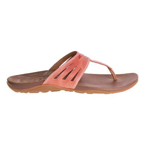 Womens Chaco Sansa Sandals Shoe - Peach 8