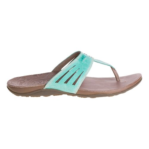 Womens Chaco Sansa Sandals Shoe - Turquoise 9
