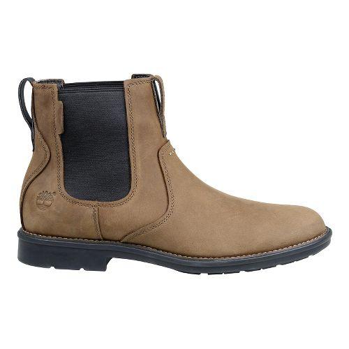Mens Timberland Carter Notch Plain Toe Chelsea Casual Shoe - Olive Full Grain 8