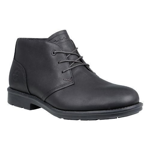 Mens Timberland Carter Notch Waterproof Plain Toe Chukka Casual Shoe - Black Full Grain 8 ...