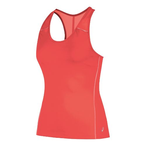 Womens ASICS Lite-Show Bra Sleeveless & Tank Technical Tops - Fiery Flame XL
