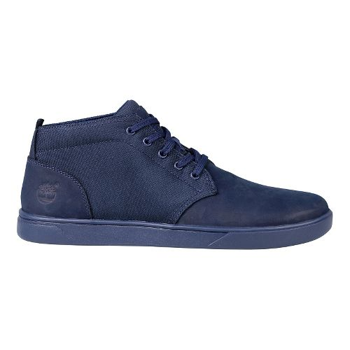 Mens Timberland Groveton Lace to Toe Chukka Leather and Fabric Casual Shoe - Navy Nubuck ...