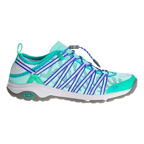 Womens Chaco Outcross EVO 1.5 Hiking Shoe - Aqua 10.5