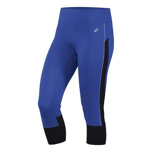 Womens ASICS Lite-Show Capris Pants - Royal Blue M