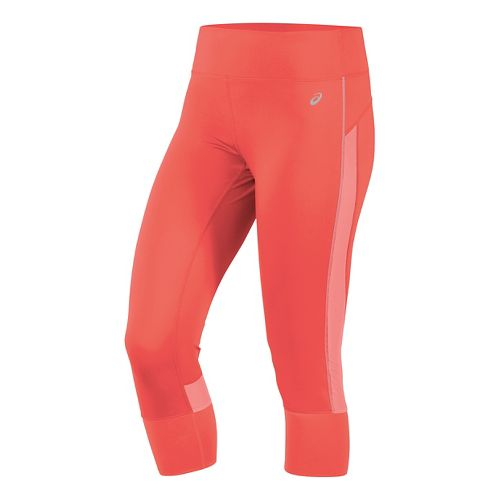Womens ASICS Lite-Show Capris Pants - Fiery Flame XL