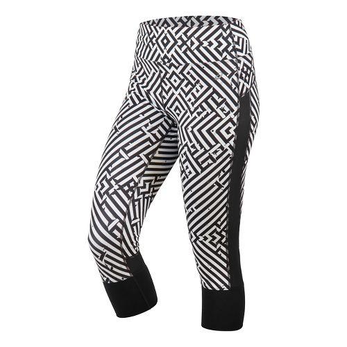 Womens ASICS Lite-Show Capris Pants - Maze Print L