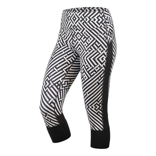 Womens ASICS Lite-Show Capris Pants - Maze Print XL