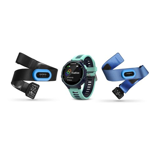 Garmin Forerunner 735XT Tri-Bundle Monitors - Midnight Frost Blue