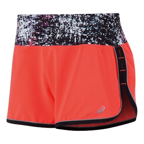Womens ASICS Lite-Show Shorts - Fiery Flame L