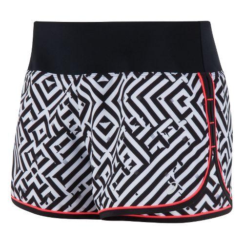 Womens ASICS Lite-Show Shorts - Maze Print S