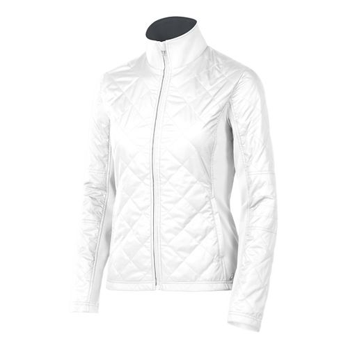 Womens ASICS Thermo Windblocker Cold Weather Jackets - Real White L