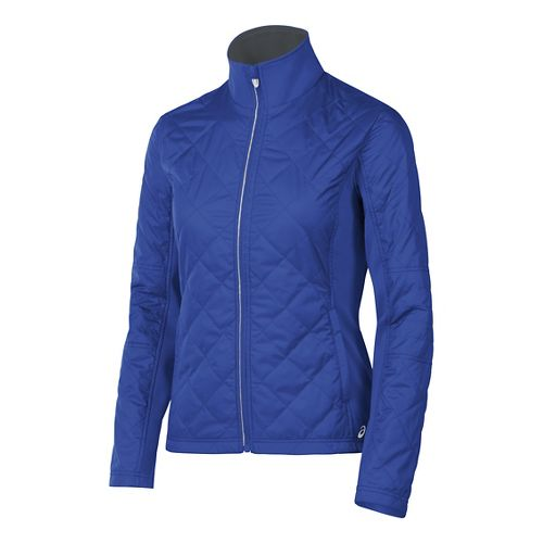 Womens ASICS Thermo Windblocker Cold Weather Jackets - Royal Blue M