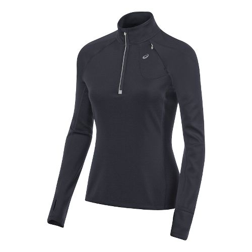 Womens ASICS Thermal XP 1/2 Zip Long Sleeve Technical Tops - Performance Black L