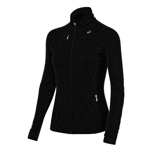 Womens ASICS Thermopolis Full Zip Jacket Long Sleeve Technical Tops - Performance Black L