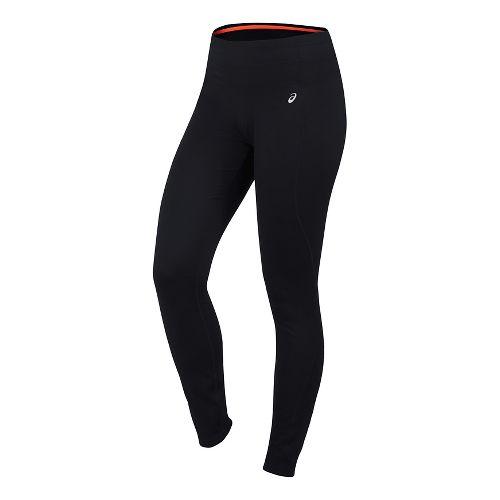 Womens ASICS Thermopolis Tights & Leggings Pants - Performance Black SR