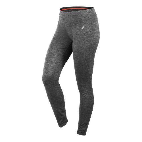 Womens ASICS Thermopolis Tights & Leggings Pants - Dark Grey Heather MT