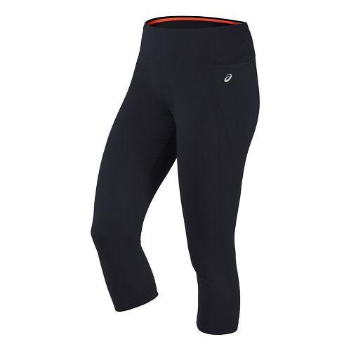 Womens ASICS Thermopolis Capris Pants - Performance Black M