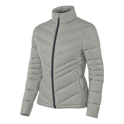 Womens ASICS Down Cold Weather Jackets - Dark Grey Heather XS