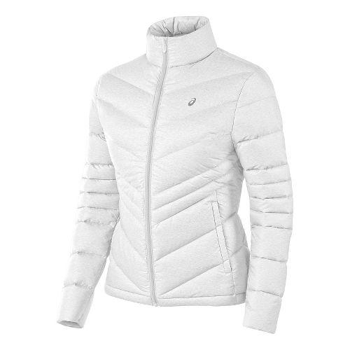 Womens ASICS Down Cold Weather Jackets - Real White S
