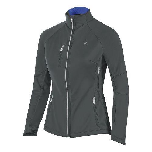 Womens ASICS Softshell Jacket Hoodie & Sweatshirts Technical Tops - Iron Gate XL