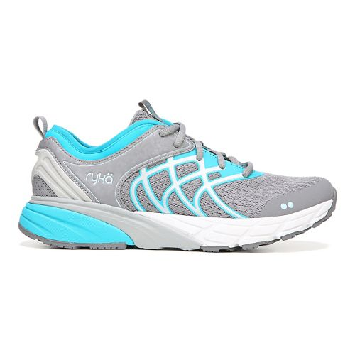 Womens Ryka Nalu Running Shoe - Grey/Blue 7.5
