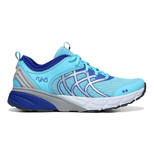 Womens Ryka Nalu Running Shoe - Blue/Silver 10