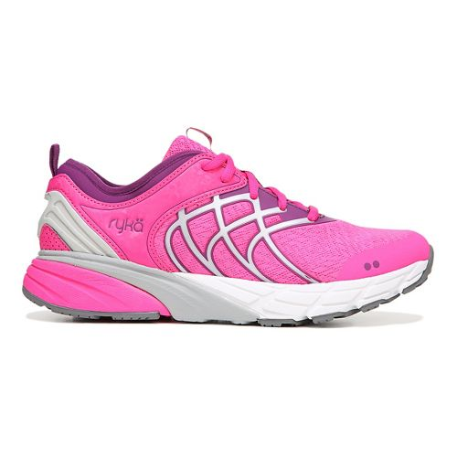 Womens Ryka Nalu Running Shoe - Pink/Silver 7.5