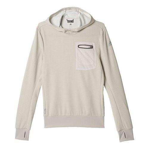 Mens adidas AKTIV Hoodie & Sweatshirts Technical Tops - Pearl Grey S
