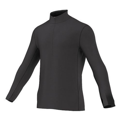 Mens adidas Climaheat Half-Zip Long Sleeve Technical Tops - Black L