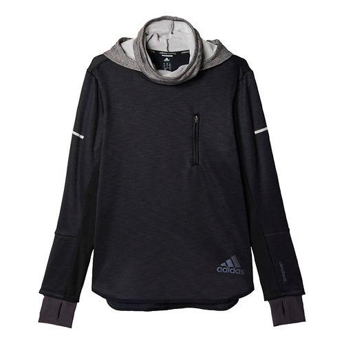 Mens adidas Climaheat Hoodie & Sweatshirts Technical Tops - Black XL