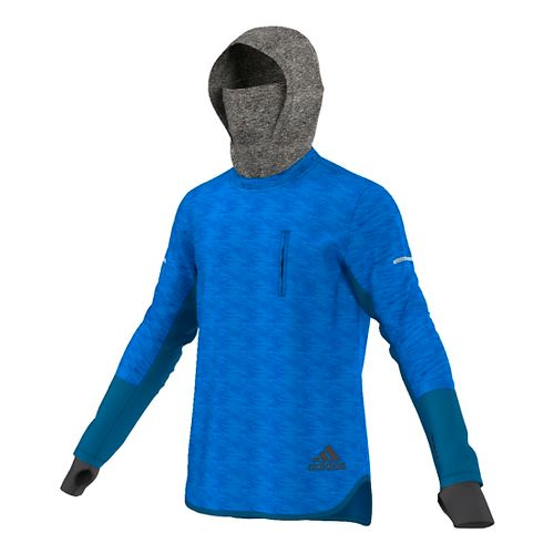 Mens adidas Climaheat Hoodie & Sweatshirts Technical Tops - Unity Blue M