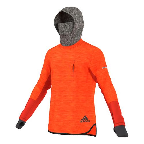 Mens adidas Climaheat Hoodie & Sweatshirts Technical Tops - Bold Orange M