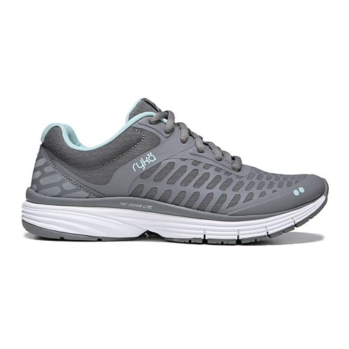 Womens Ryka Indigo Running Shoe - Grey/Mint 8.5