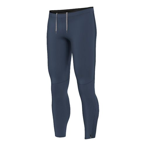 Mens adidas Climaheat Long Tights & Leggings Pants - Mineral Blue XL
