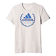 Mens adidas Running Winner Graphic Tee Short Sleeve Technical Tops