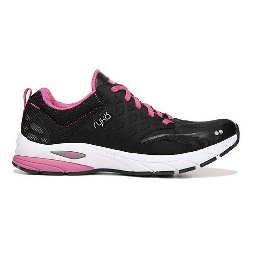 Womens Ryka Knock Out Running Shoe - Black/Pink 8.5