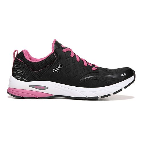 Womens Ryka Knock Out Running Shoe - Black/Pink 9.5