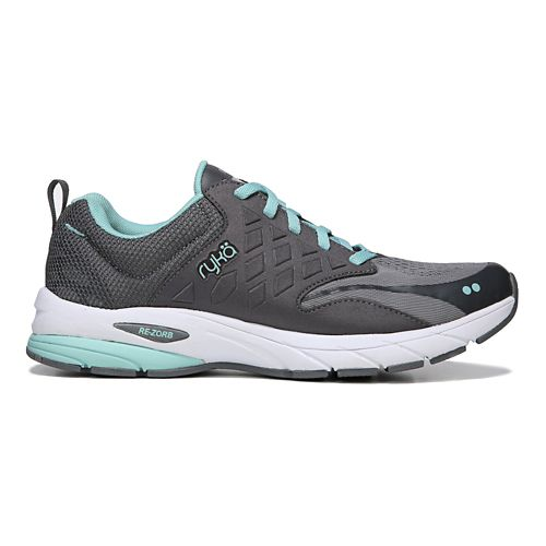 Womens Ryka Knock Out Running Shoe - Grey/Blue 10