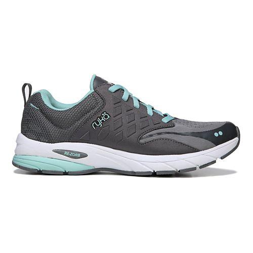 Womens Ryka Knock Out Running Shoe - Grey/Blue 7.5