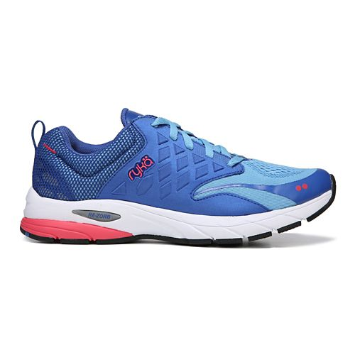 Womens Ryka Knock Out Running Shoe - Blue/Coral 7