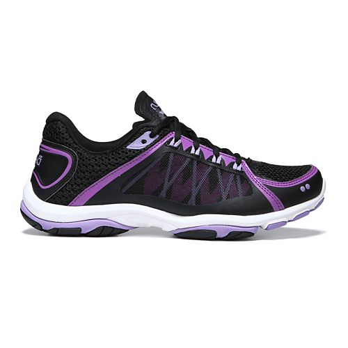 Womens Ryka Influence 2.5 Cross Training Shoe - Black/Purple 5.5