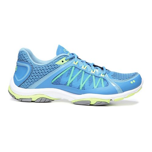 Womens Ryka Influence 2.5 Cross Training Shoe - Blue/Lime 9.5