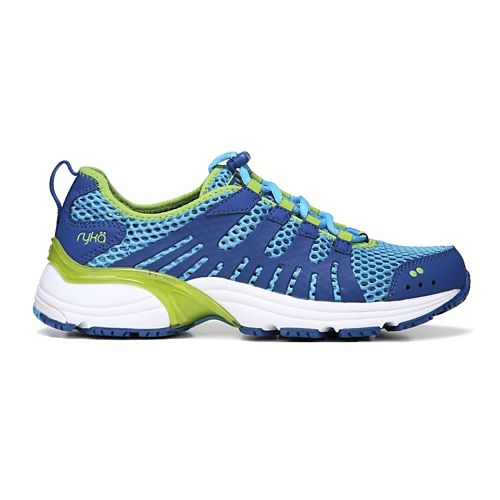 Womens Ryka Hydrosport 2 Cross Training Shoe - Blue/Lime 6.5