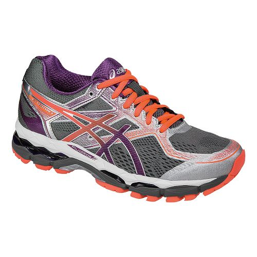 Womens ASICS GEL-Surveyor 5 Running Shoe - Grey/Orange 11