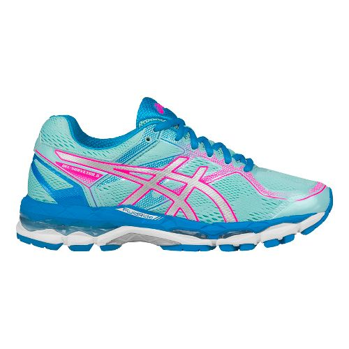 Womens ASICS GEL-Surveyor 5 Running Shoe - Aqua/Silver 12.5