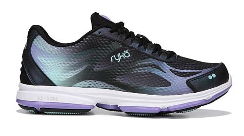 Womens Ryka Devotion Plus 2 Walking Shoe - Black/Purple 6.5
